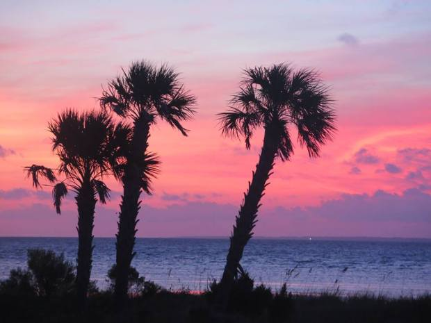 sunset, florida, st. george island