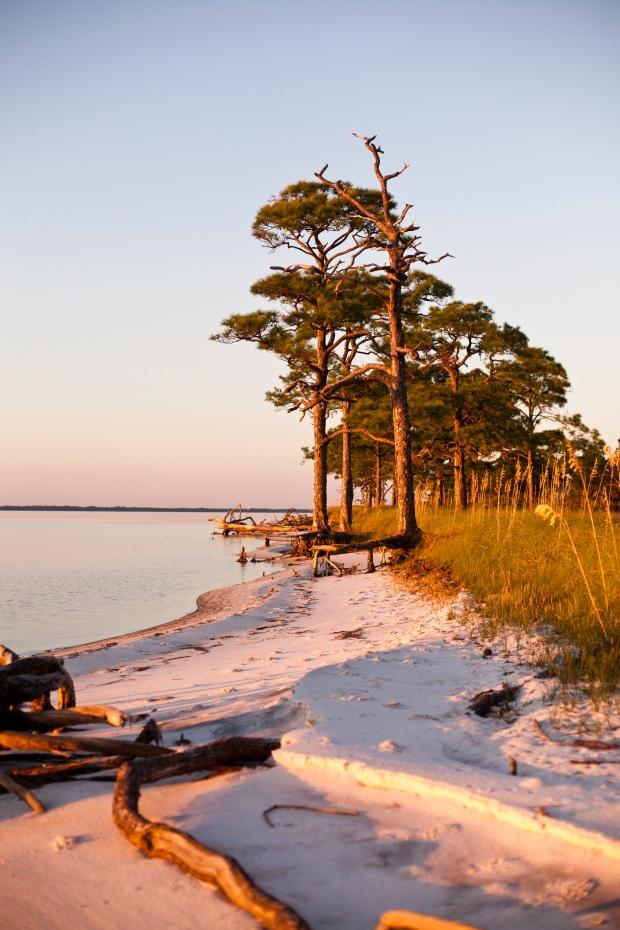 st. george island state park, island, florida, sunset