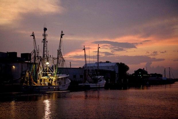 sunset, shrimp, boat, st. george island, apalachicola